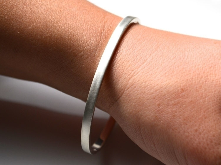 Thick Silver Bangle Bracelet -  - mineralrare | ello