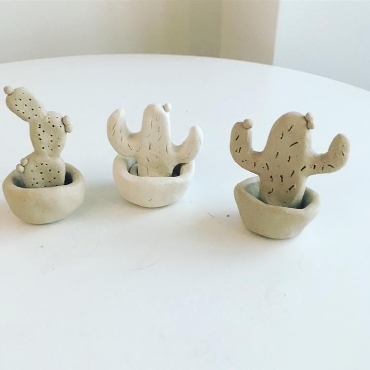 Handmade clay cactus - ceramics - livingdecortwins | ello