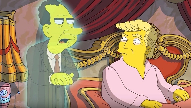 "Simpsons"" pokes fun President T - bonniegrrl 