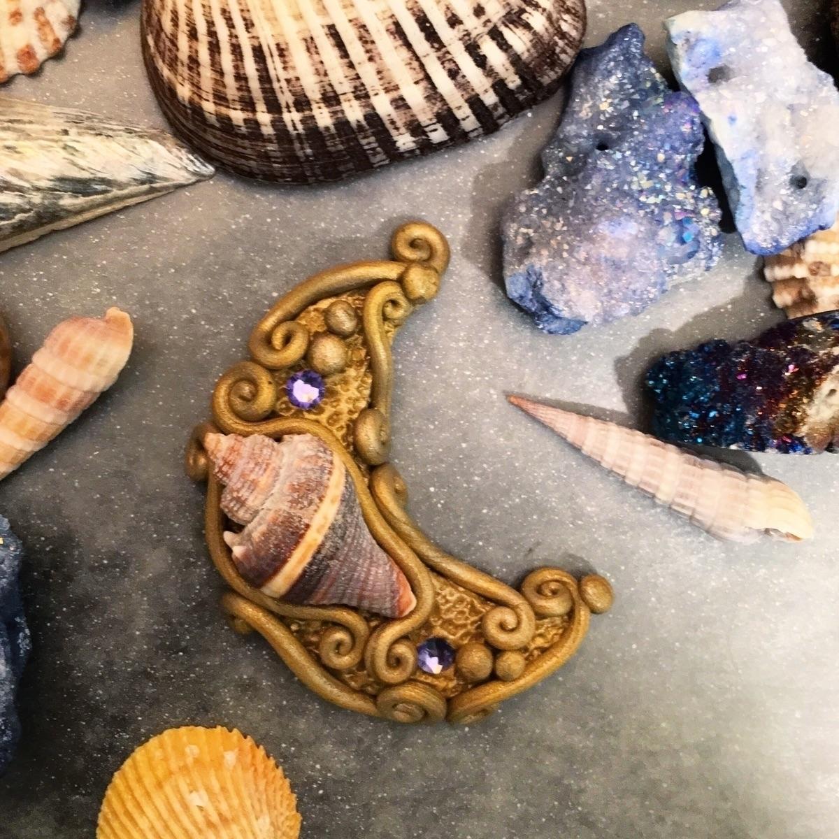 mermaid moon eager finish piece - earthlustdesigns | ello