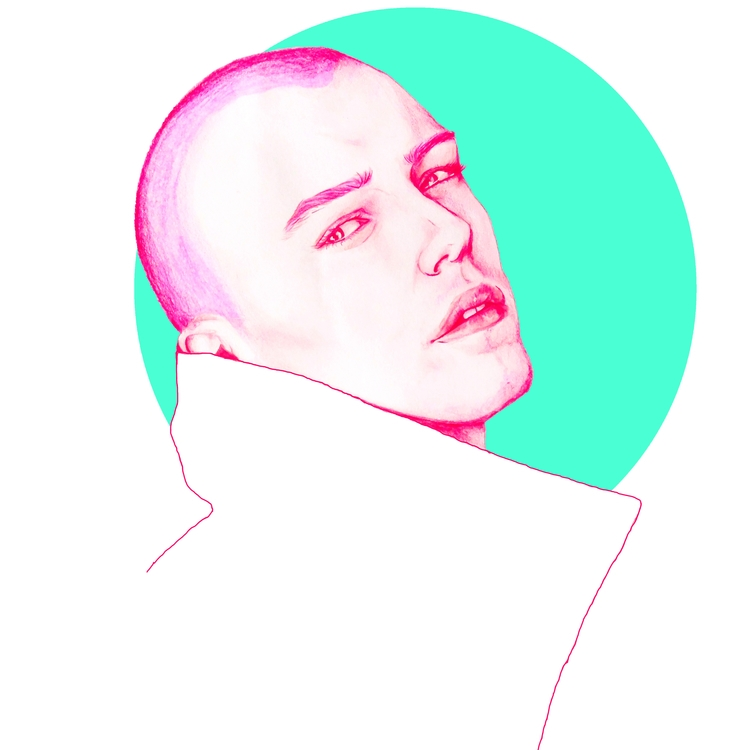 Model, Pink, Pencil, Drawing - azglynn   ello