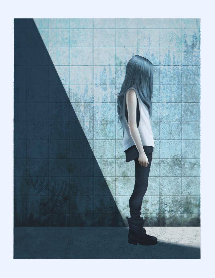 grunge, girl, conceptart, illustration - brenrodri | ello