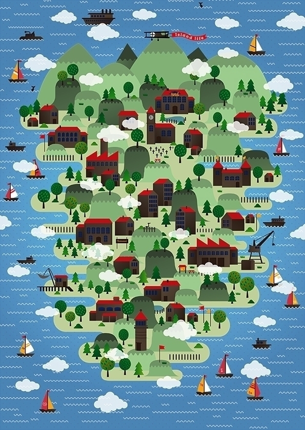 Island life - digitalillustration - johniseifert | ello