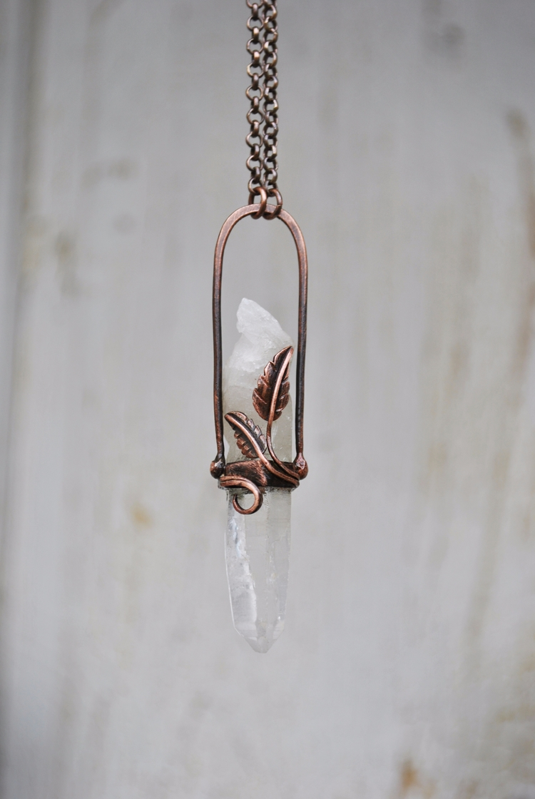 Crystal drop - jewelry, pendant - twistedjewelry | ello