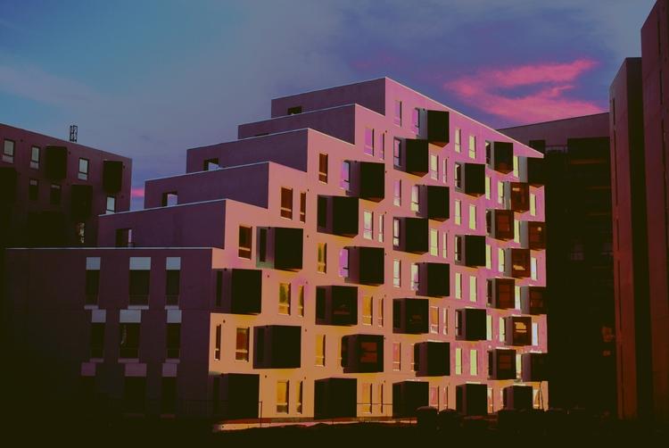 cubism - architecture, sunset, photography - esfir | ello