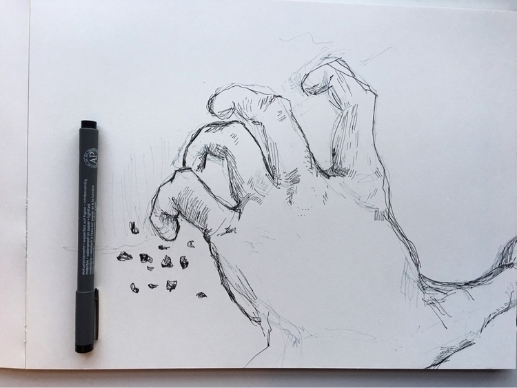 hand gripping giant jar coconut - kevan_joseph | ello