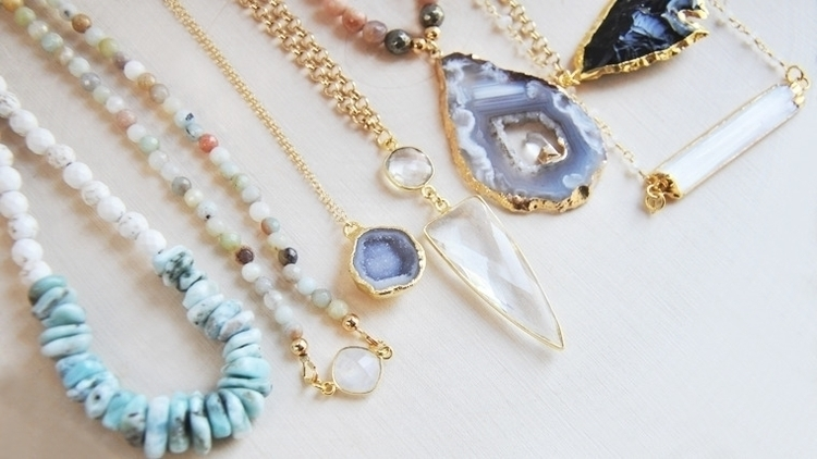 assortment handmade necklaces F - fawinginlove | ello