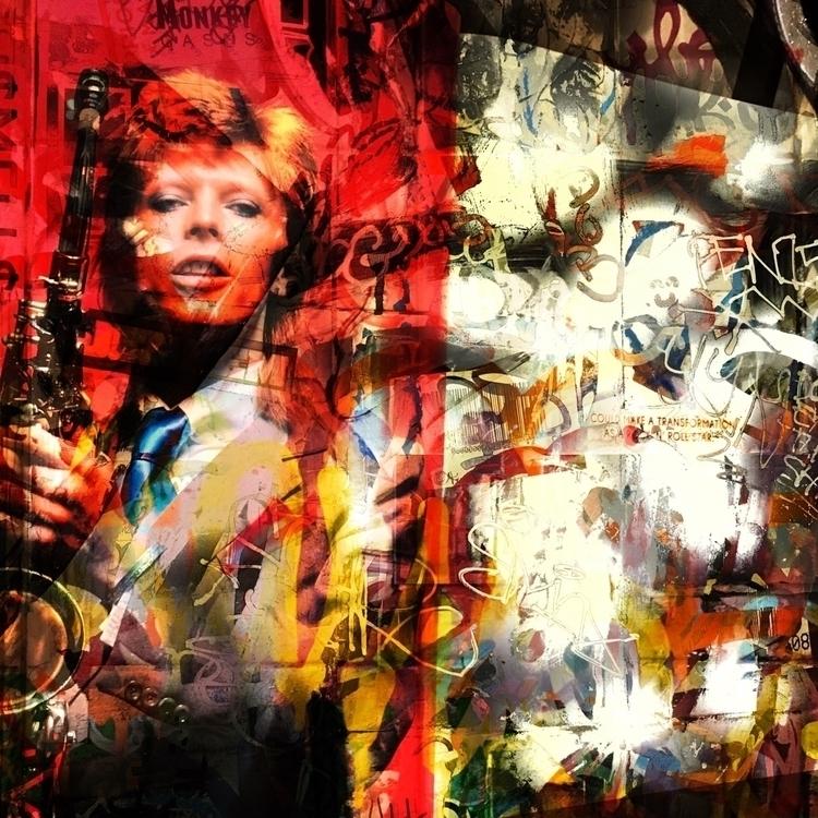 DavidBowie, Graffiti, StreetArt - montymckeever   ello