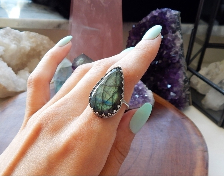 Labradorite Sterling:green_hear - auraluna | ello