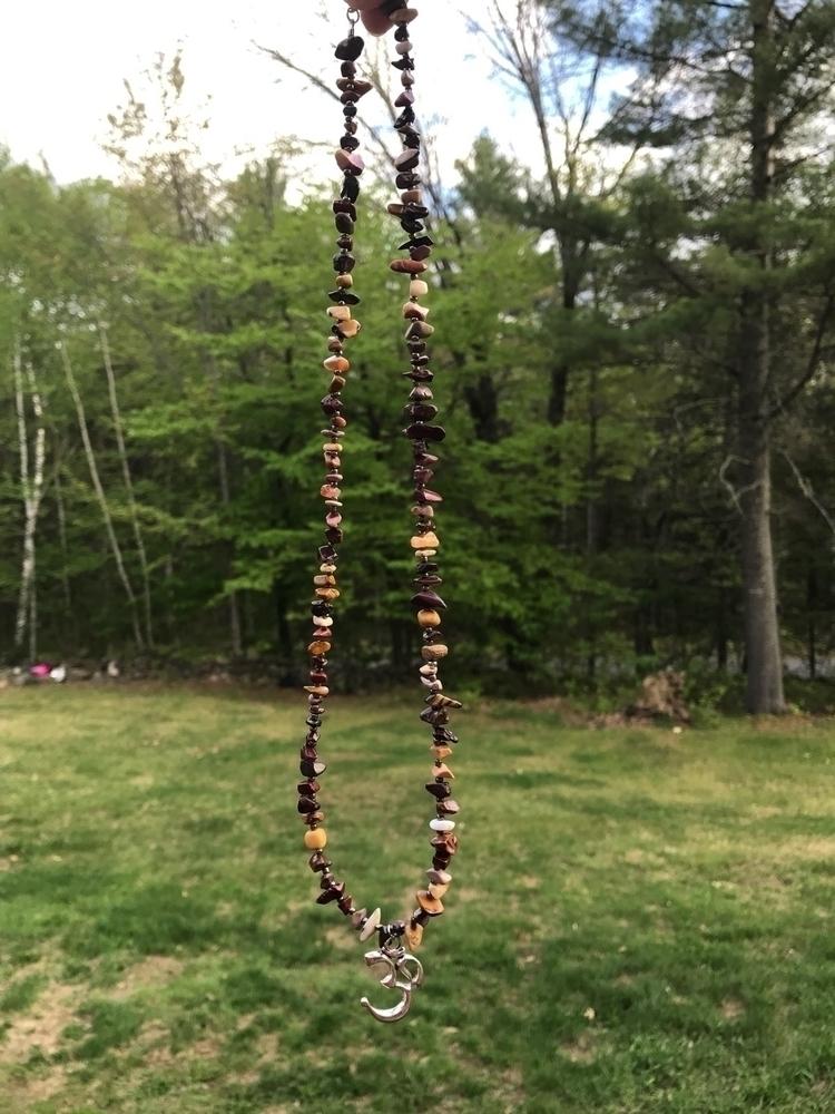 Mookaite OM necklace 13 length - jenniferscraftdesign | ello