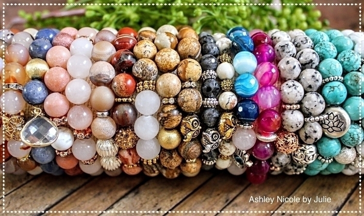 Natural gemstone beaded bracele - ashleynicolebyjulie | ello