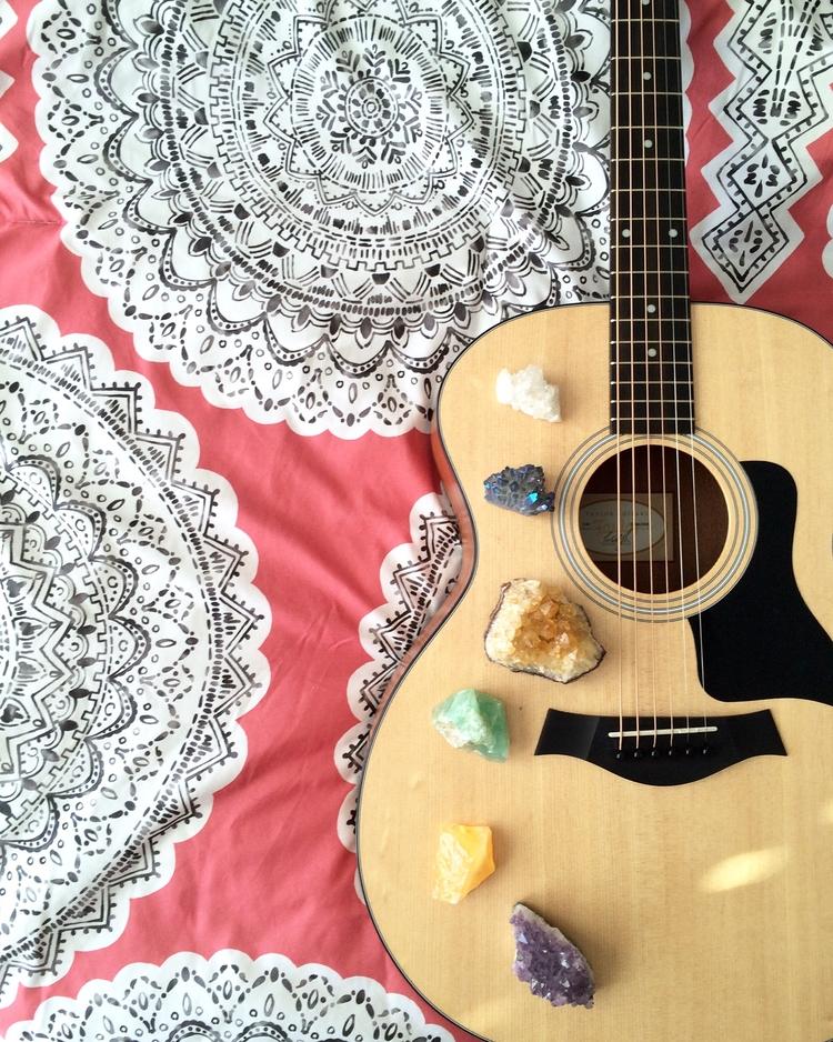 favorite - Guitar, Crystals, Mandala - wildskyla | ello