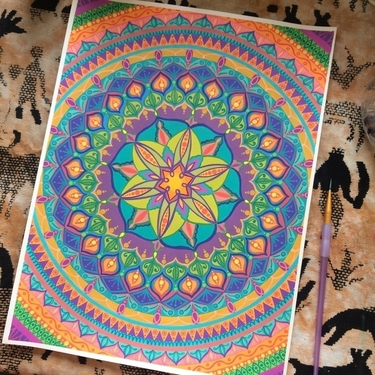 mandala - art, psychedelic, drawing - vesicadesigns | ello