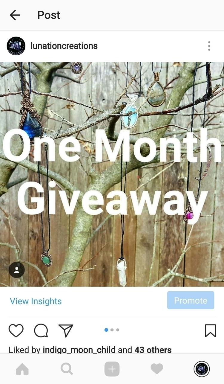 Check Instagram enter giveaway  - lunationcreations | ello