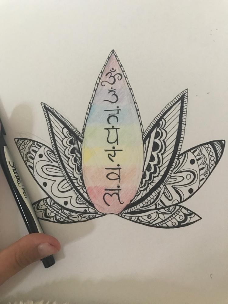 Felt inspired sketch today - chakra - courtney_caulk | ello