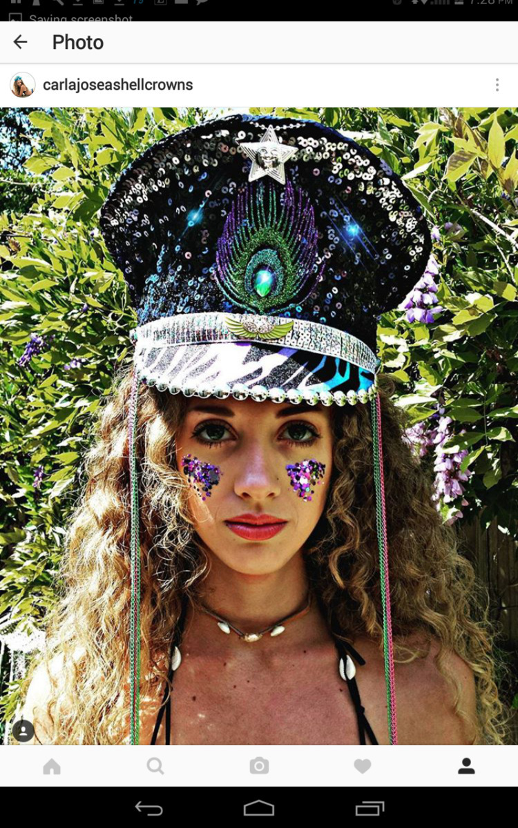 Hannah festival rock cool Rave  - carlajoseashellcrowns   ello