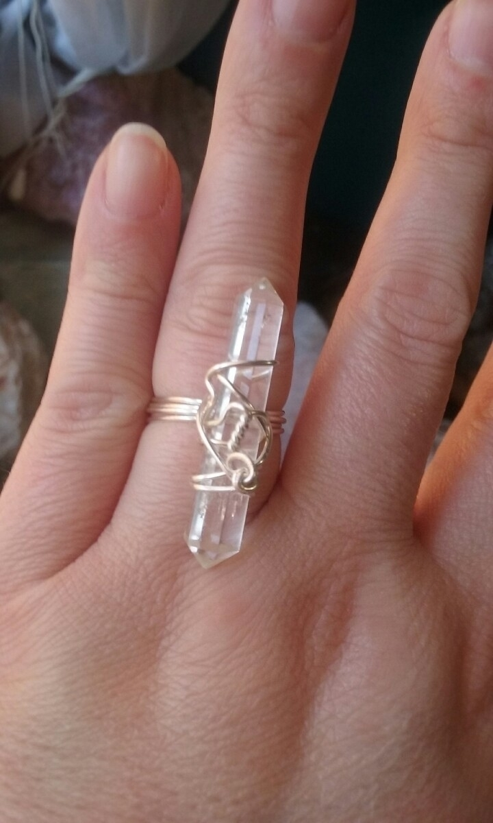 wire wrapping ring. bad - doubleterminatedquartz - eternalmagick | ello
