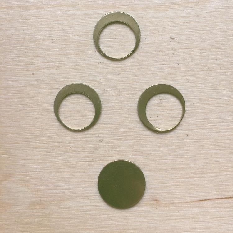 Moon earring studs - brassjewelry - gavvistone | ello
