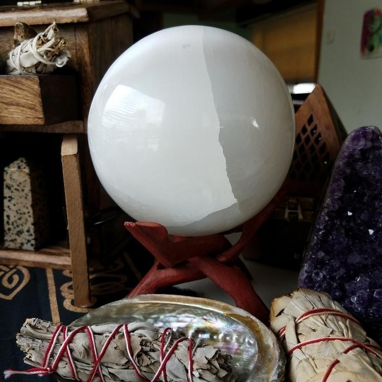 GIANT Selenite Sphere Shop - crystal - sacreddivination | ello