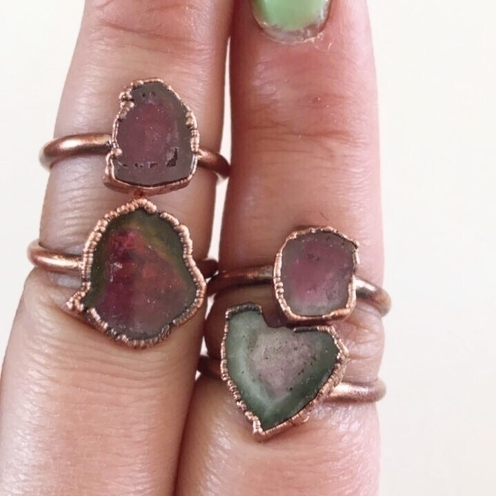 love Watermelon tourmaline slic - rugged_and_raw | ello