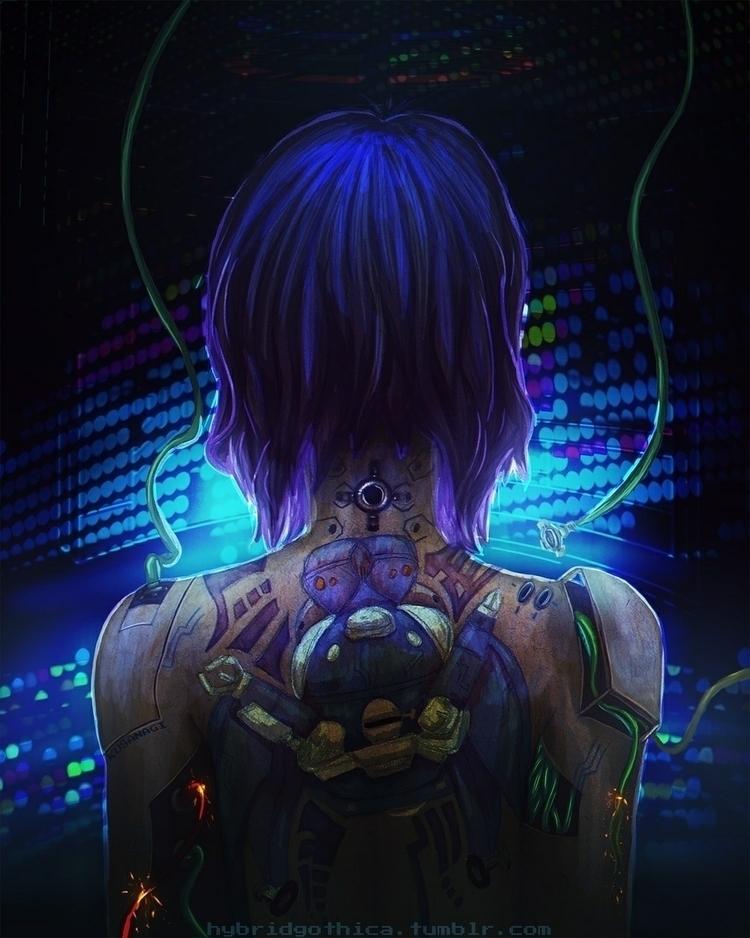 Digital painting Motoko Kusanag - hybridgothica | ello