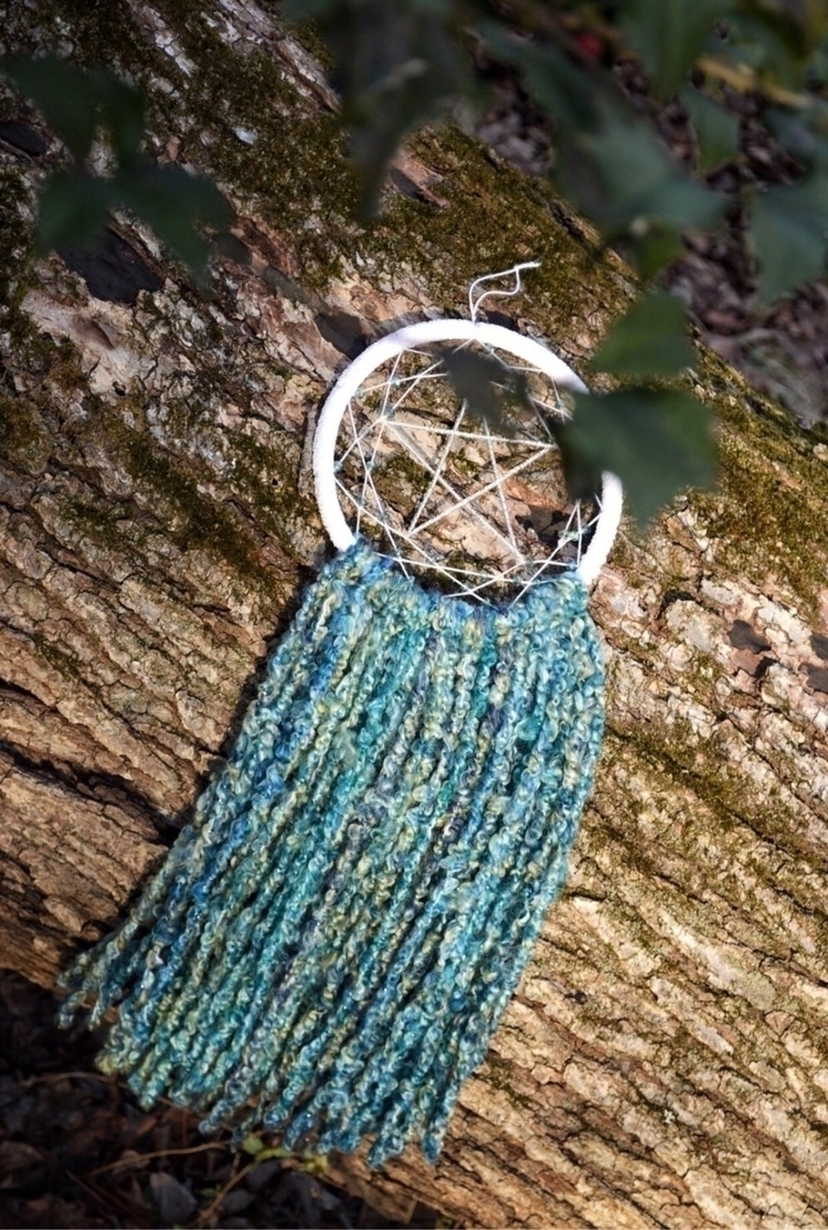 Star Dreamcatcher hues blue gre - thewoodsywitchh | ello