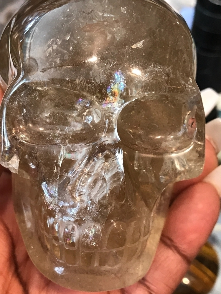 Citrine Skull Awesome Piece Sto - godsheavenlyscents   ello