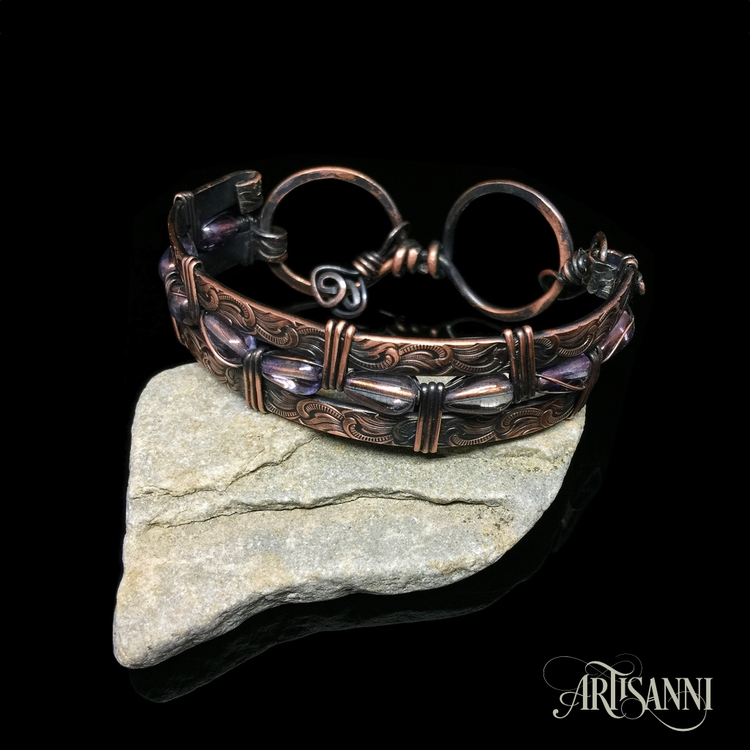 Ello post copper bracelet hope  - artisanni | ello
