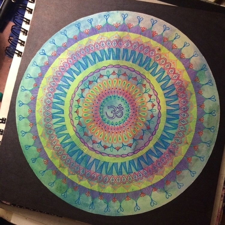 Om Mandala - mandala, art, drawing - vesicadesigns | ello