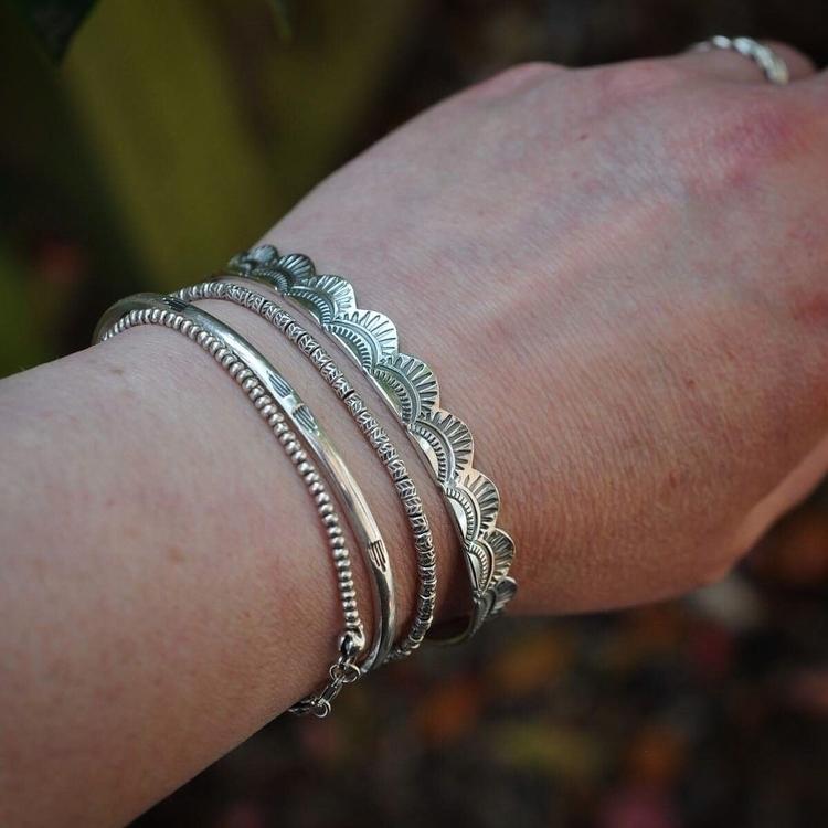 scalloped cuffs chunky reclaime - christinewalshjewellery | ello