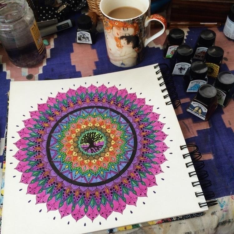 Tree Life Mandala - mandala, art - vesicadesigns | ello