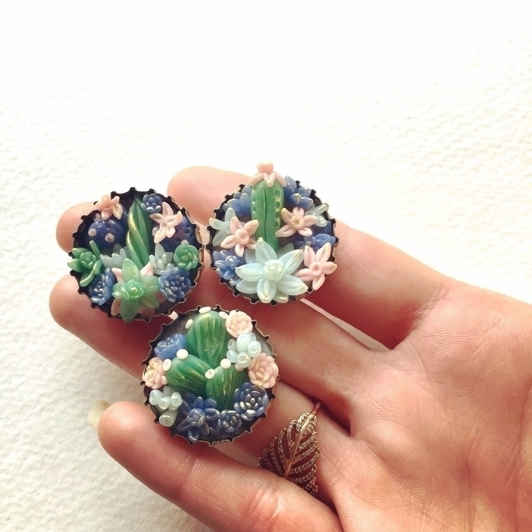 Pastel succulent cactus magnets - thethirstydesert | ello