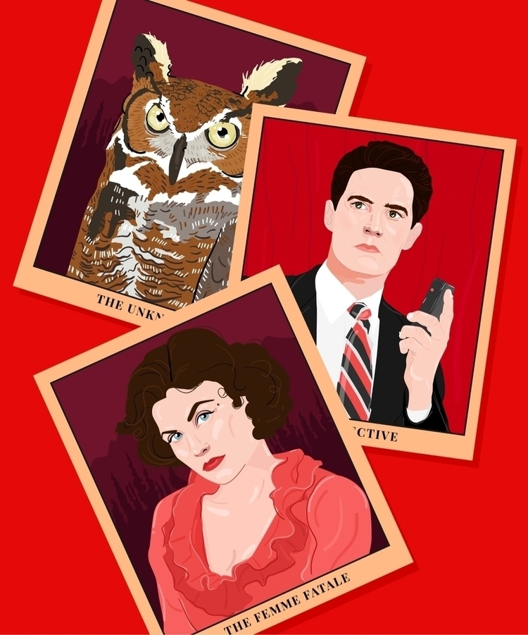 Twin Peaks Tarot cards - portrait - malloryheyer | ello