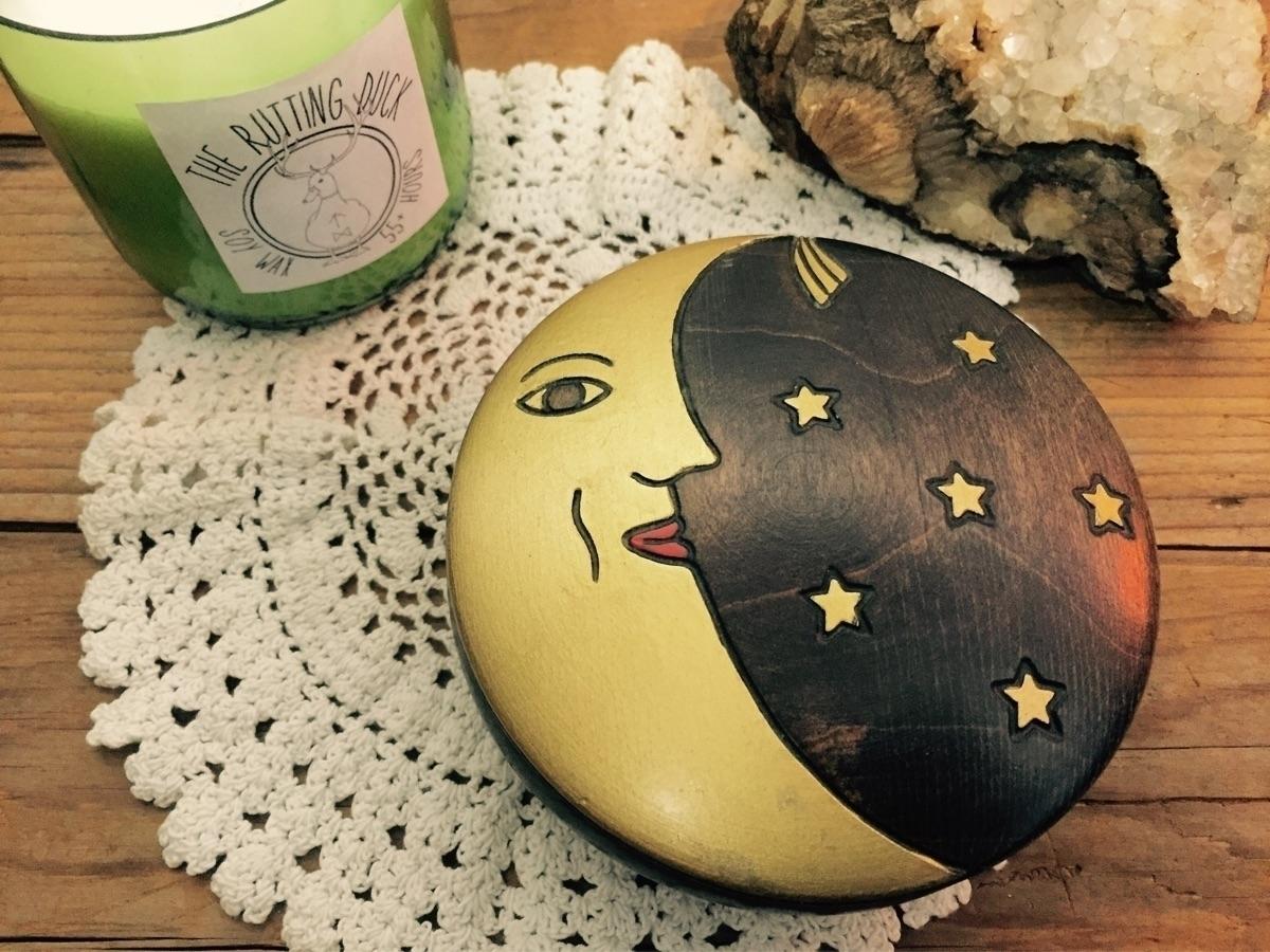 perfect vintage wooden moon box - theruttingduck   ello