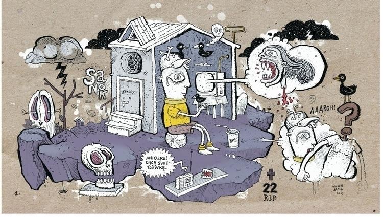 illustration MACHINA magazine  - victorsoma | ello