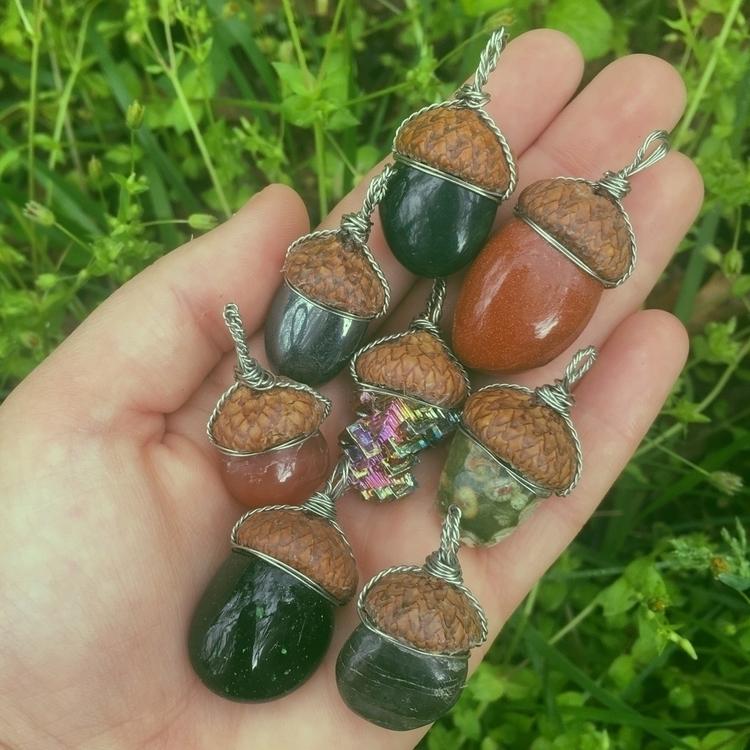 Pretty acorns - acorn, nature, handmade - thefractalfaerie | ello
