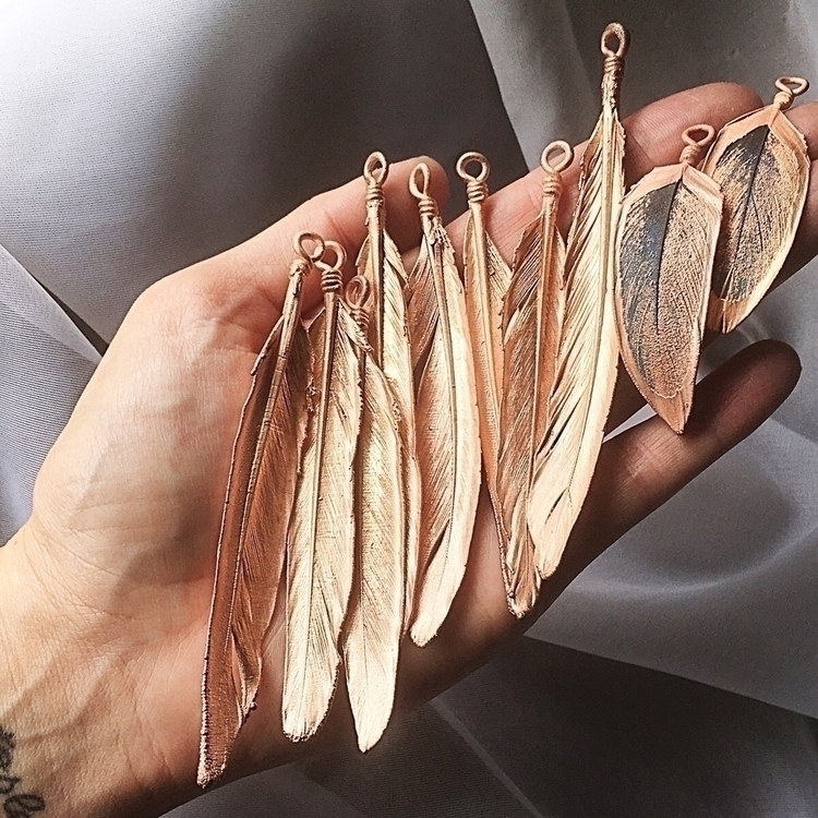Electroformed feathers fresh ba - amykaeatelier | ello