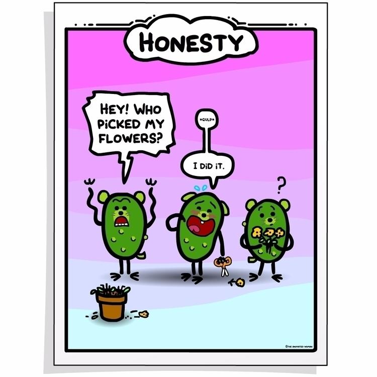 Honesty. High-quality printable - theanimatedwoman | ello