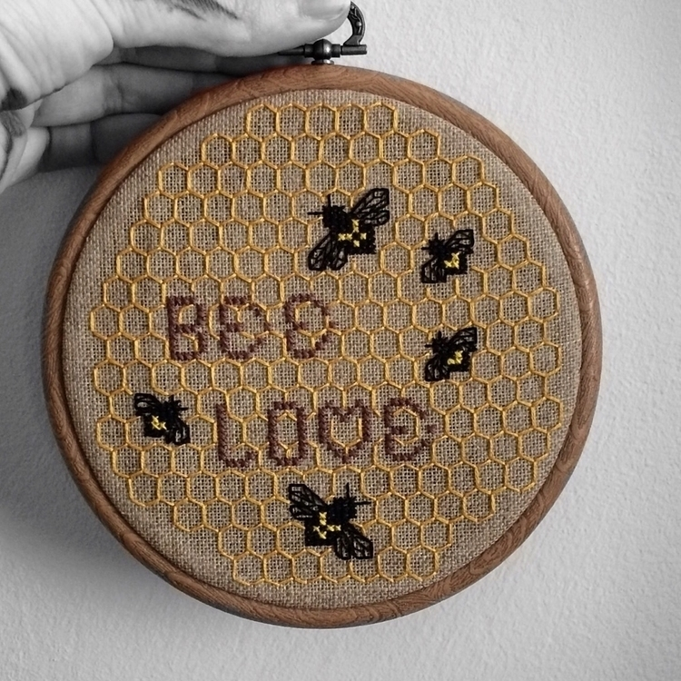 Bee Love Cross Stitch Embroider - nickistitch | ello