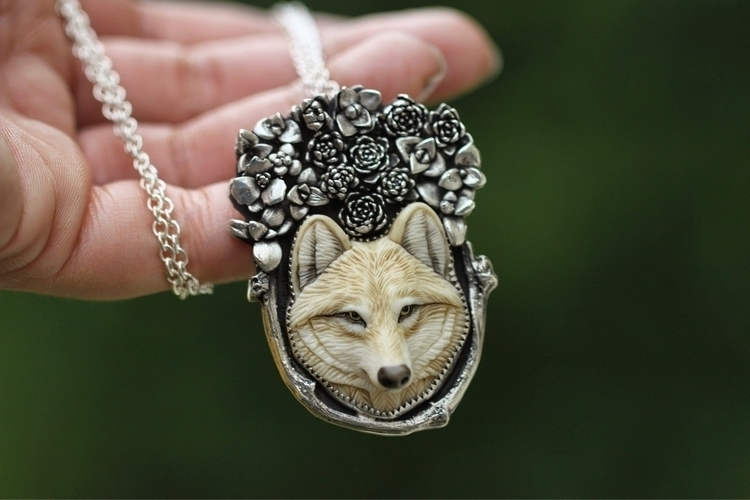 Finished wolf necklace signatur - arrowsandstone | ello
