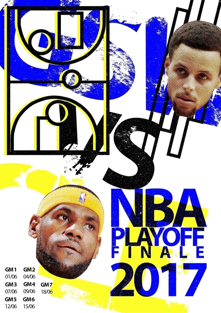 NBA playoffs finals fan posters - thelefthanded1 | ello