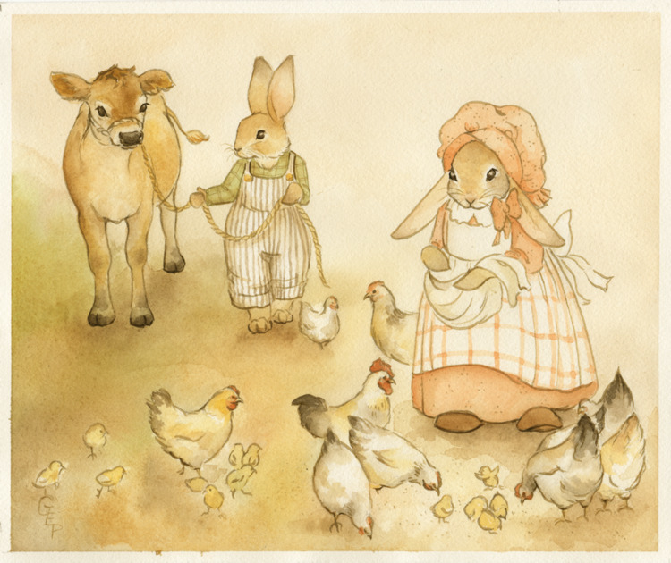 FARMER BONNY BUNNY: MORNING CHO - gretchenellenpowers | ello