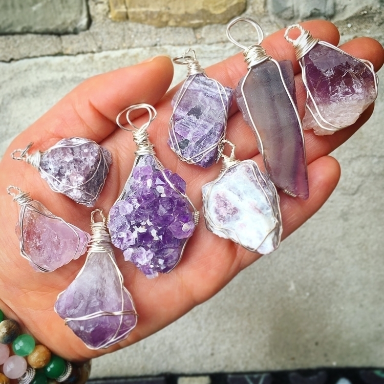Purple Crystal wire wraps - amethyst - thepeacefulpieces | ello