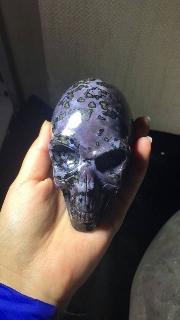 Merlinite Alien Skull guy amazi - cryscrystals | ello