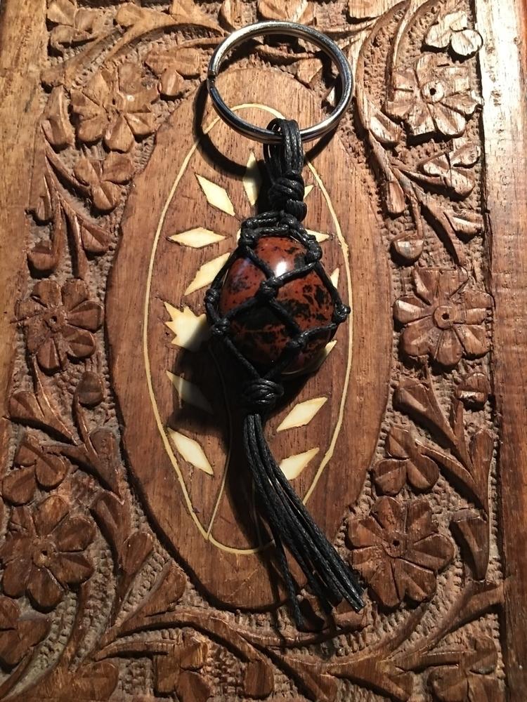 keychain consists mahogany obsi - blaqmoonrising   ello