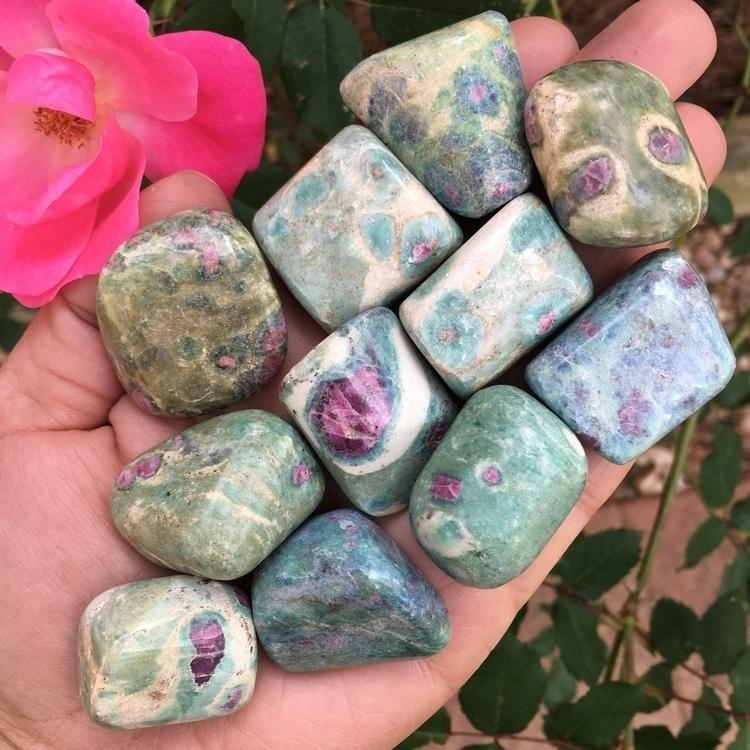 Ruby Fuchsite Tumbles - ellocrystallove - thesacredcrystal | ello