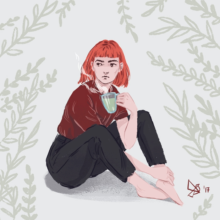 sad tea lover. experiment selfp - dariagolab | ello