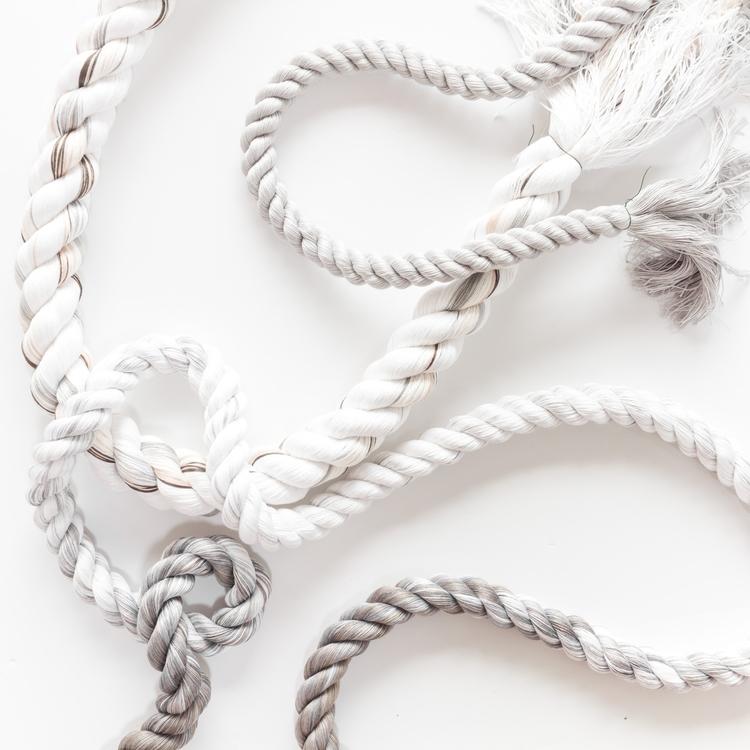 Hand-spun dyed rope fiber art - cindyzell | ello
