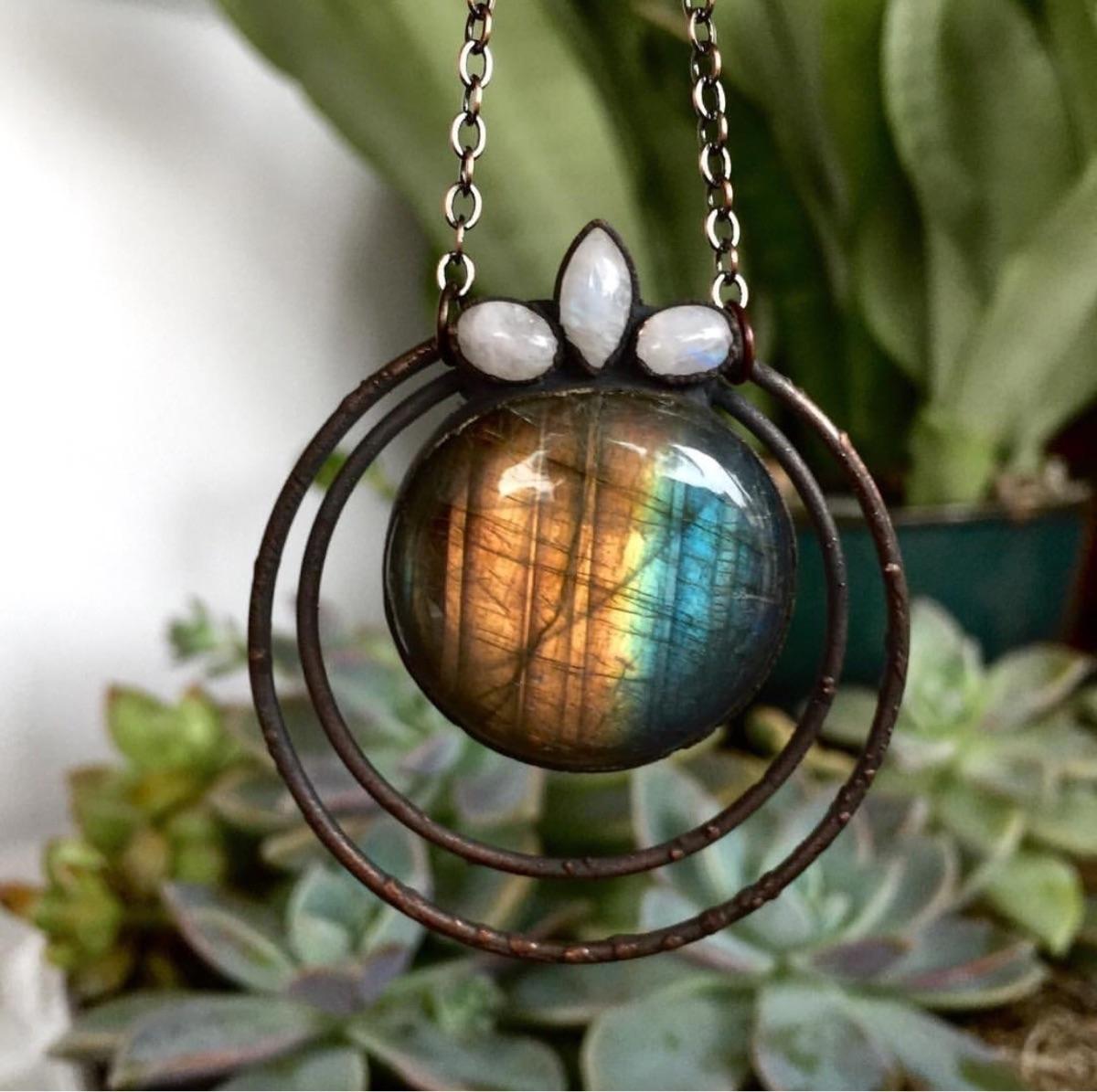 Full Moon Lotus Pendant. favori - junebugjaybird | ello