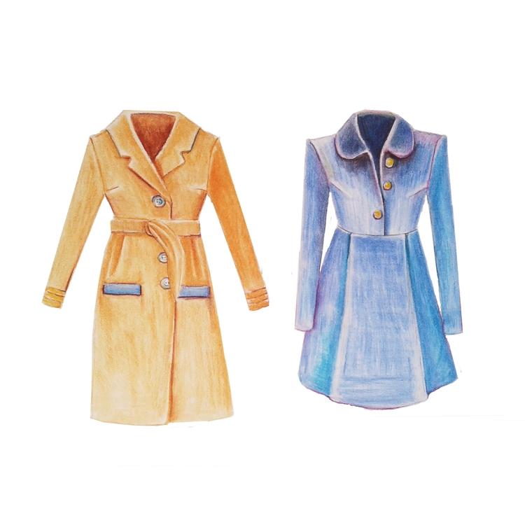 Winter coats. Colour pencils +  - emilygrobler | ello